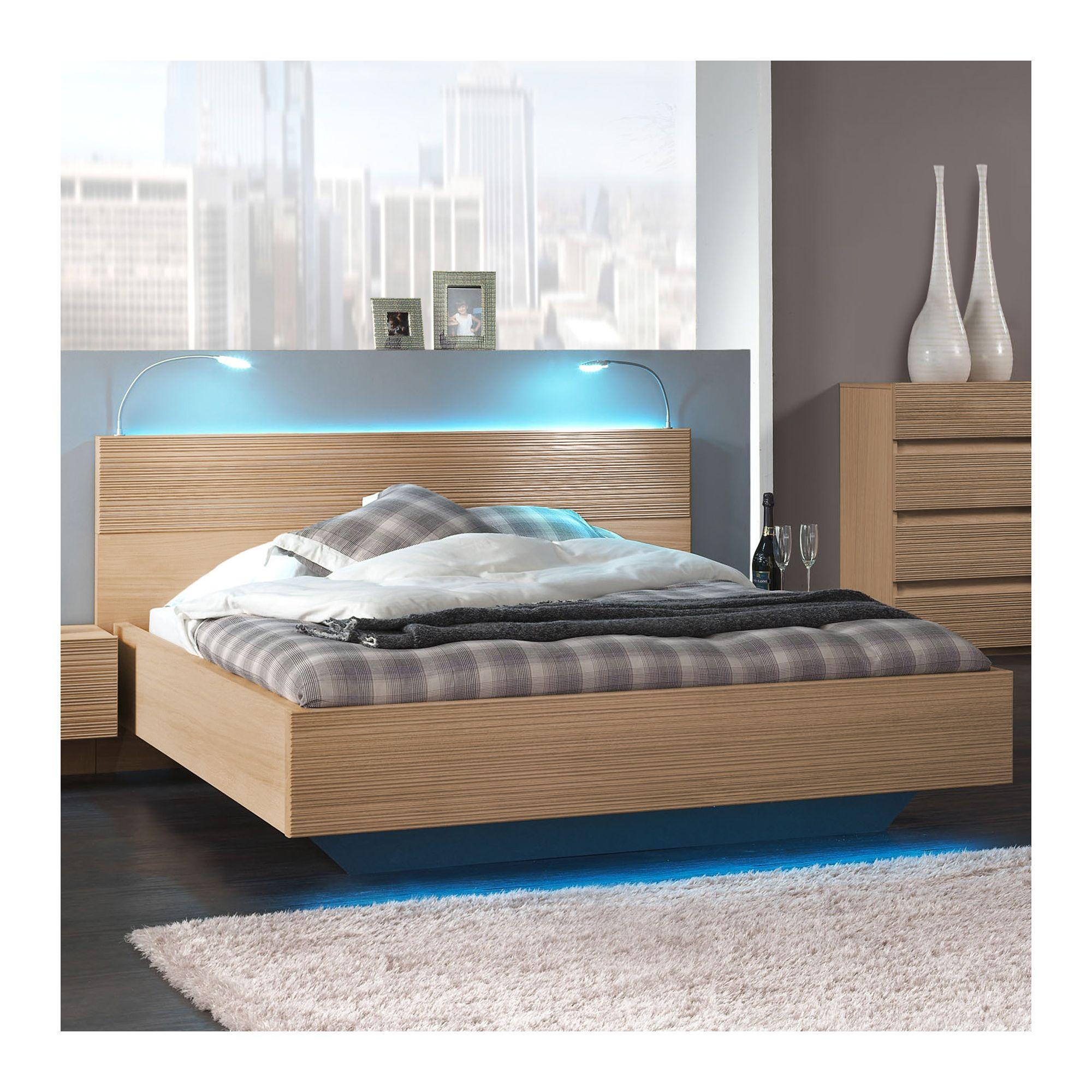Sleepline Diva Bed - European Double - Grey Mat Lacquered at Tesco Direct