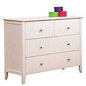 Apricot 4 Drawer Dresser Chest - White