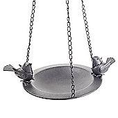 'Bosworth' Hanging Decorative Black Metal Bird Feeder Bowl