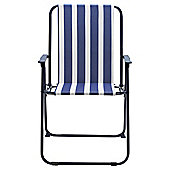 Blue Stripe Folding Picnic Chair