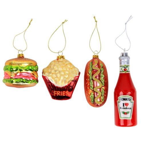 Buy plete Set Novelty Fast Food Glass Christmas Tree