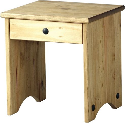 Home Essence Corona Dressing Table Stool in Distressed Waxed Pine