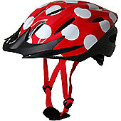 Kiddimoto Cycle Helmet - Red Dotty - Medium