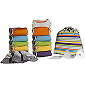 Close Pop-In V2 Bamboo Bright 10 Washable Nappies - Middle Box