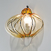 Siru Vecchia Murano One Light Wall Lamp - Amber Smooth - 22cm H X 29cm W X 14cm D
