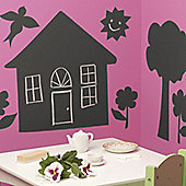 House & Trees Chalkboard Set