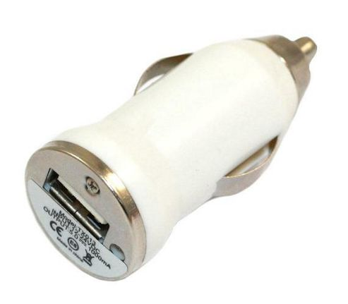 iTALKonline PowerPlus USB Bullet Small In Car Charger Adapter - White