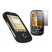 iTALKonline 6491 Black Hybrid Case + Screen protector & Cleaning Cloth - Samsung S3650 Genio