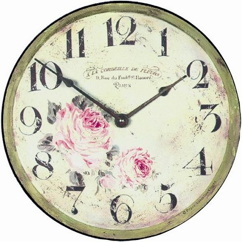 Buy Roger Lascelles Clocks Large Florist Wall Clock from ...