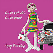 Holy Mackerel Happy Birthday. Your Not Old, Your Retro Greetings Card