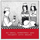 Holy Mackerel Greeting Card - Christmas Card - Fraught With Drama at Xmas