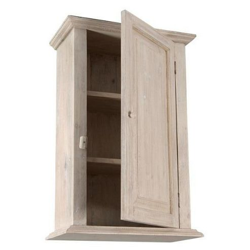Papa Theo Wall Cabinet with Plain Door - Natural Limed
