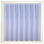 Tyrone Albany Single Panel Net Curtains Channel Top - White
