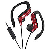 JVC HA-EBR80 Sports Ear Clip Headphones - Red