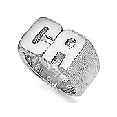 Jewelco London Silver initial ring Signet Ring Size