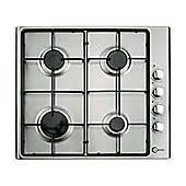 Flavel FL61NXP 600mm 4 Buner Gas Hob in Stainless Steel with Side Controls