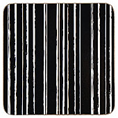 Tesco Black White Stripe Coaster