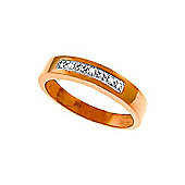 QP Jewellers 0.02ct I-3 Diamond Princess Prestige Ring in 14K Rose Gold