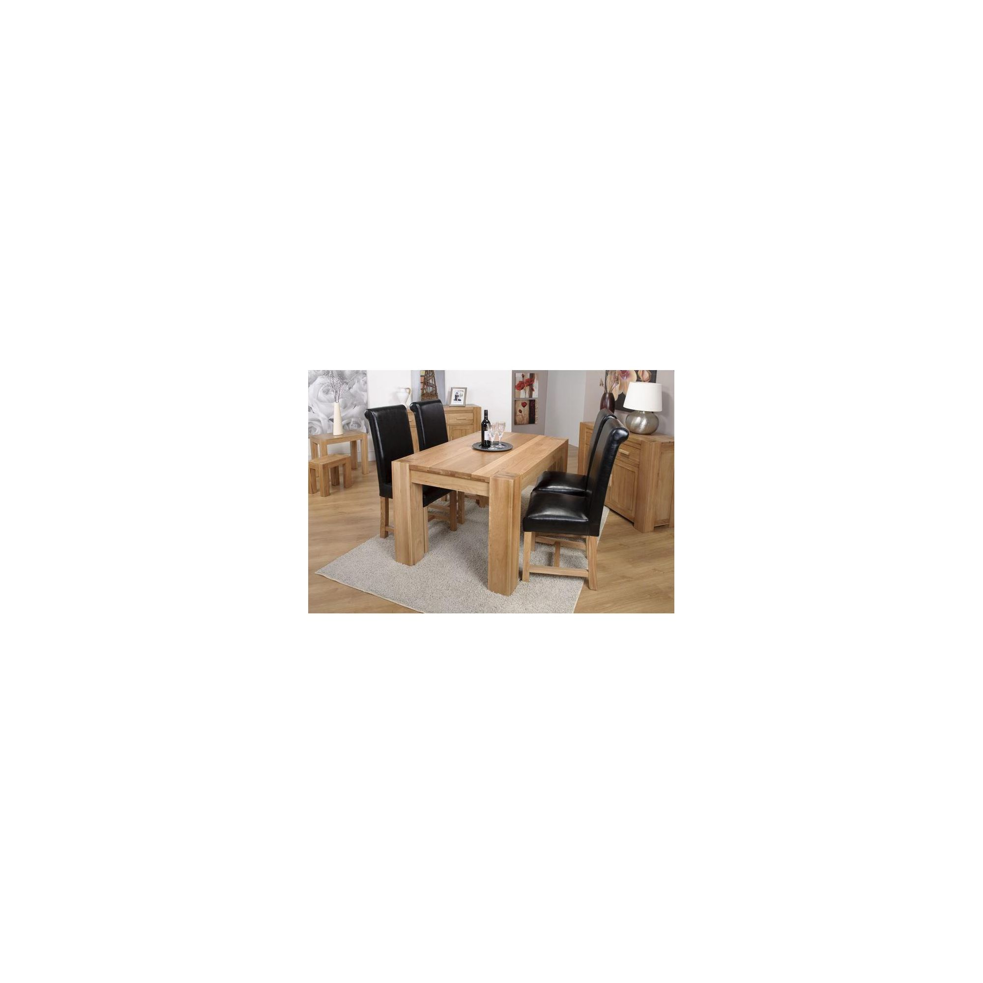 Shankar Enterprises Oslo Dining Table - 140cm W x 90cm D
