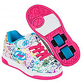 Heelys Dual Up White/Rainbow/Print Kids Heely X2 Shoe - White