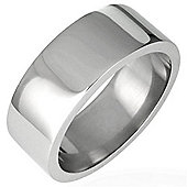 Urban Male Men's Ring Stainless Steel Plain Polished 8mm Band