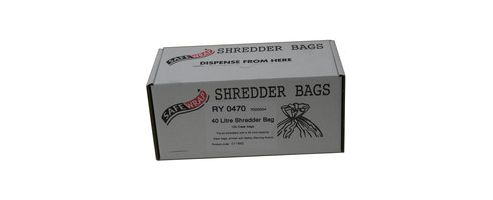 Safewrap Shredder Bag 40 Litre Pack of 100 RY0470