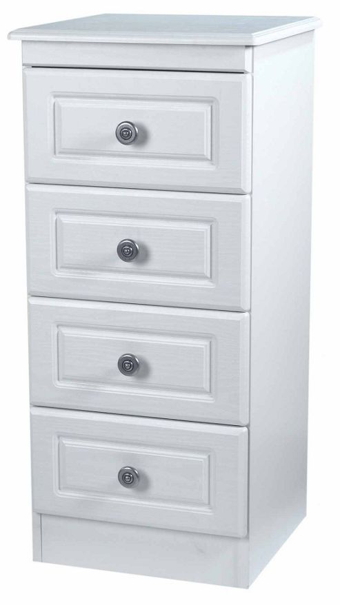 Welcome Furniture Pembroke 4 Drawer Chest with Locker - Cream