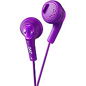 JVC XS15 Gumy Base Boost Stereo Headphones Violet