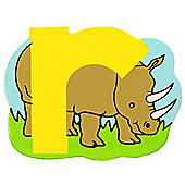 Bigjigs Toys BJL118 Wooden Magnetic Animal Letter Lowercase R (Designs Vary)