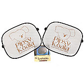 Pipsy Koala Car Window Sun Shades Pack Of 2 Sunscreens With Suction Cups