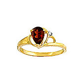 QP Jewellers Diamond & Garnet Glow Ring in 14K Gold
