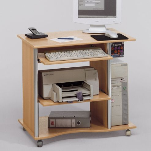 Maja-Möbel Computer Desk in Beech / Aluminium Style