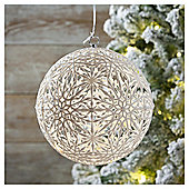 Weiste Light Up White Snowflake Christmas Bauble