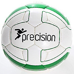 Precision Cordino Match Football (White/Emerald) Size 3