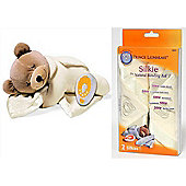 Prince Lionheart Bundle Slumber Bear Plus Cream and Replacement Silkie Cream