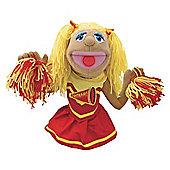 Melissa & Doug Cheerleader Megan Pompomovich Puppet