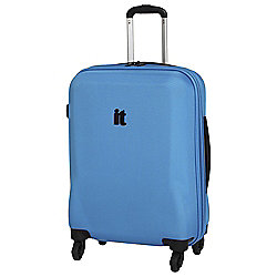 IT Luggage Frameless 4-Wheel Suitcase, Methyl Blue Small