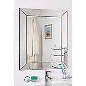 Bathroom Single Edge Venetian Bevelled Wall Mirror 2Ft2 X 1Ft10 66 X 56cm
