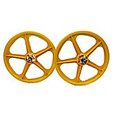 "Skyway Tuff II Yellow 20"" BMX Wheelset"