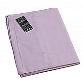 Homescapes Plain Cotton Mauve Tablecloth, 54 x 54 Inches