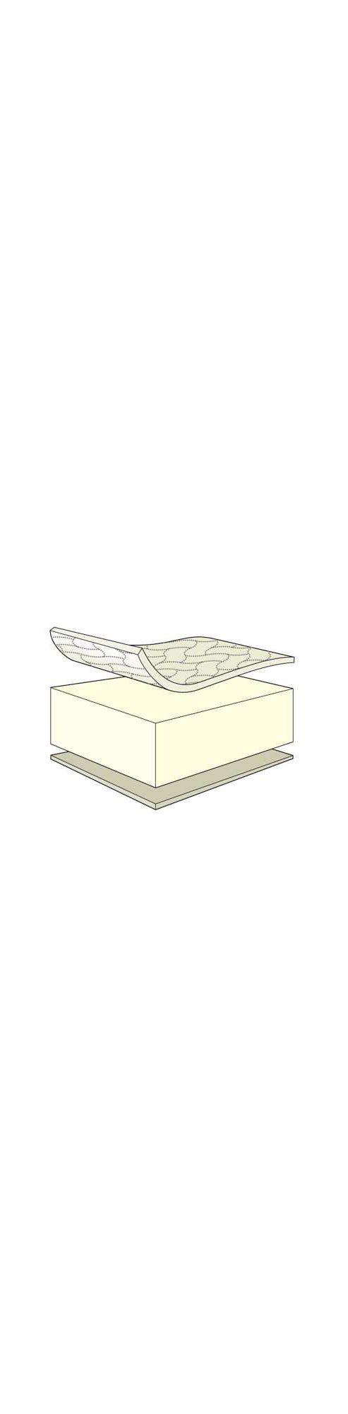 Mamas & Papas - Basic Foam Mattress - Size: 400 Cot/Bed