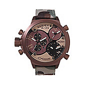 Welder Gents Brown Dial Camouflage Material Strap Watch K29-8005