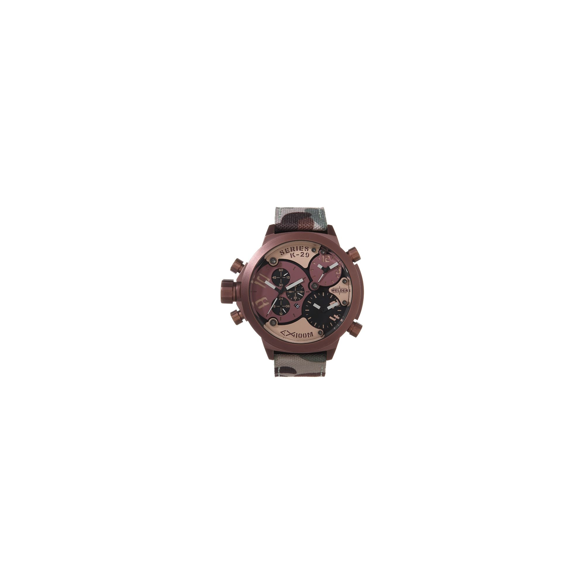 Welder Gents Brown Dial Camouflage Material Strap Watch K29-8005 at Tesco Direct