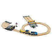 Brio Car Transporter Road  Rail Set