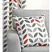 Tiga 1 pair Cushion Covers - Grey & Red