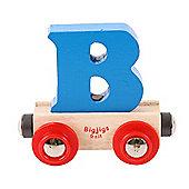 Bigjigs Rail Rail Name Letter B (Blue)