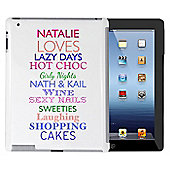 Personalised Top Ten Loves iPad Case