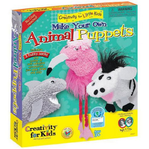Creativity For Kids - Make Your Own Animal Puppets Kit