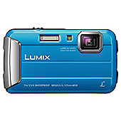 "Panasonic Lumix Digital Camera FT25 Blue 16MP 4X Optical Zoom 2.7"" LCD Screen"
