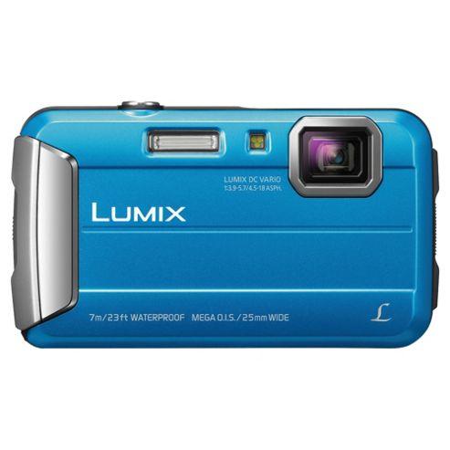 Panasonic Lumix Digital Camera FT25 Blue 16MP 4X Optical Zoom 2.7